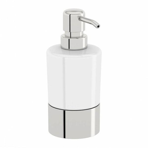 Options Freestanding Ceramic Soap Pump Dispenser