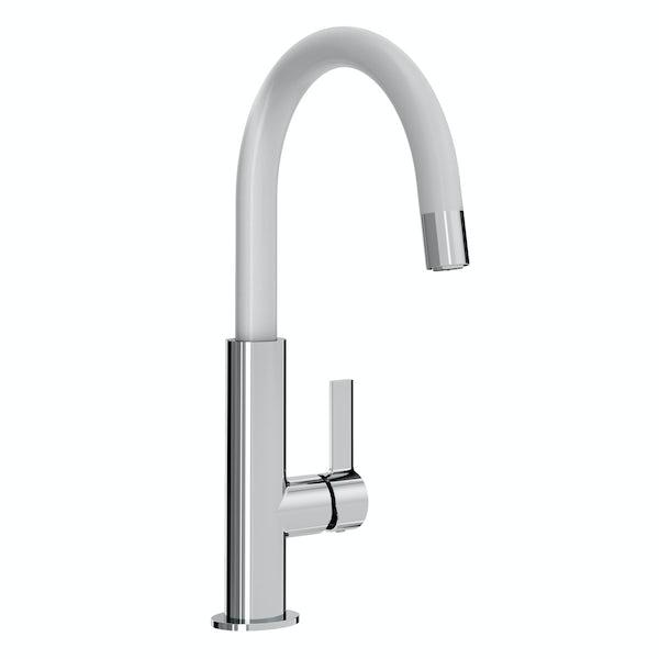 Bristan Melba white single lever kitchen mixer tap