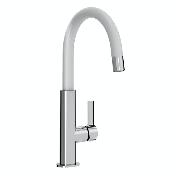 Bristan Melba white single lever kitchen mixer tap