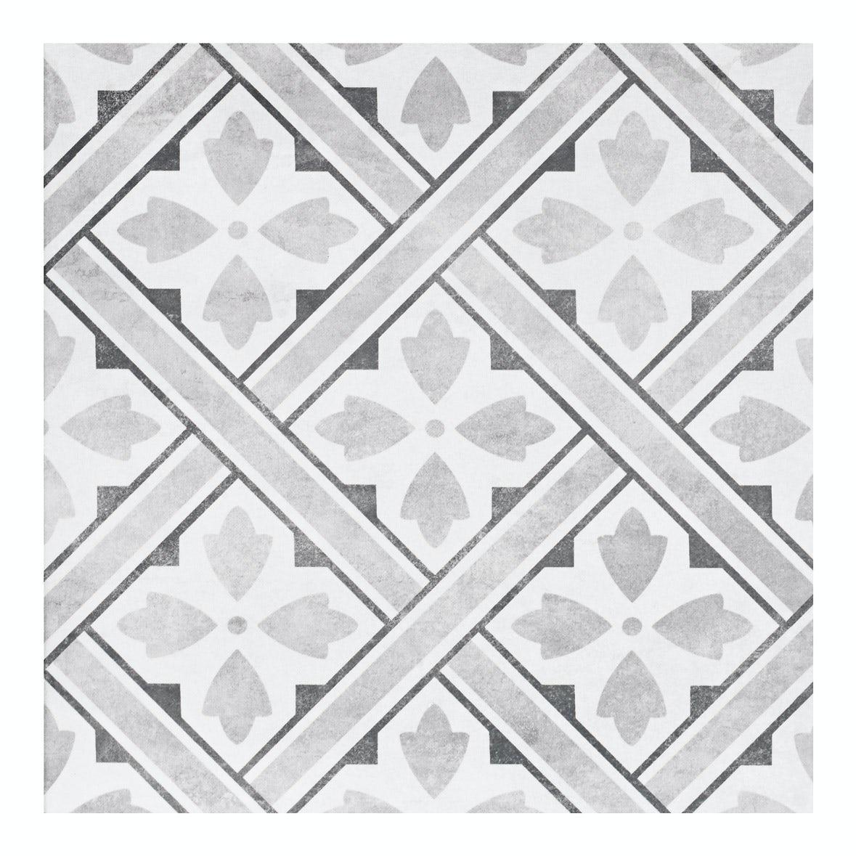 Laura Ashley Heritage Mr Jones Grey Charcoal Matt Tile