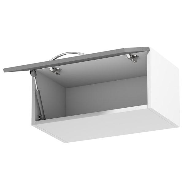 Schön New England light grey shaker bridging wall unit