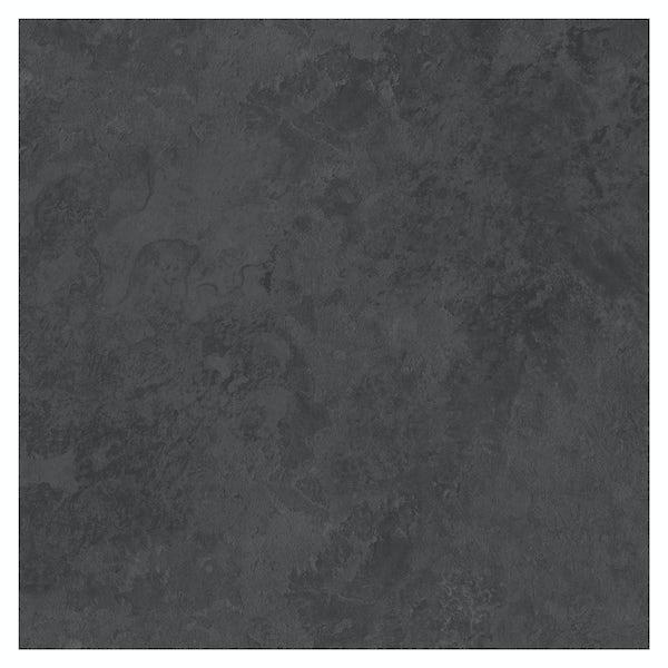 British Ceramic Tile slate dark riven grey matt tile 498mm x 498mm