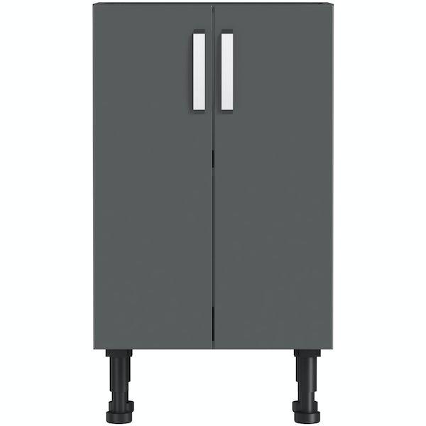 Mode Nouvel gloss grey floor cabinet 500mm