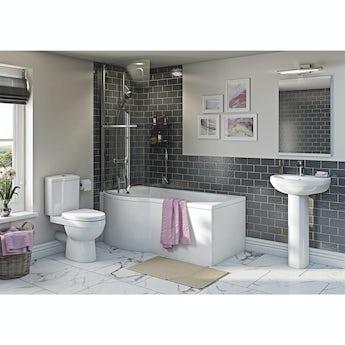 Orchard Eden bathroom suite with left handed P shaped shower bath