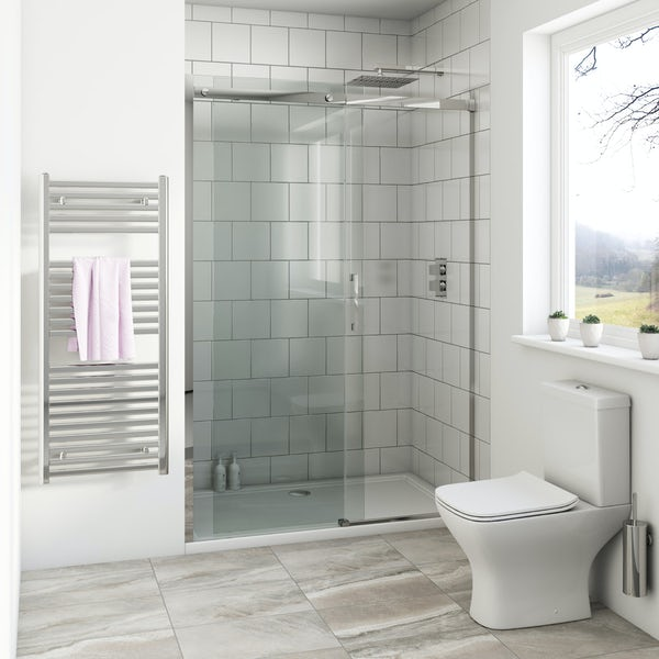 Cleaning Guide How To Clean Your Glass Shower Doors Properly: Mode Harrison 8mm Easy Clean Shower Door 1200mm