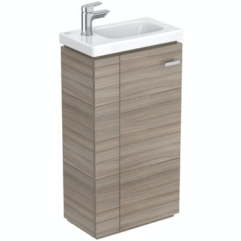 Ideal Standard Concept Space elm floor standing vanity unit and left handed basin 450mm