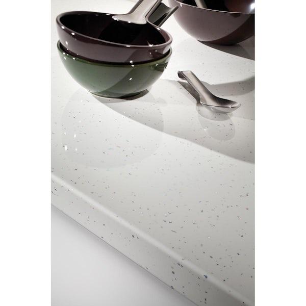 Bushboard Omega White quartz kitchen worktop