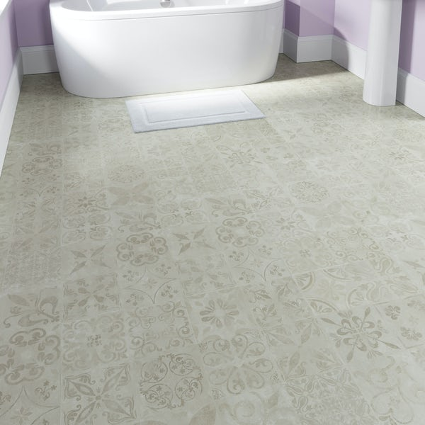 Faus Traditional Tile moisture resistant click flooring 8mm
