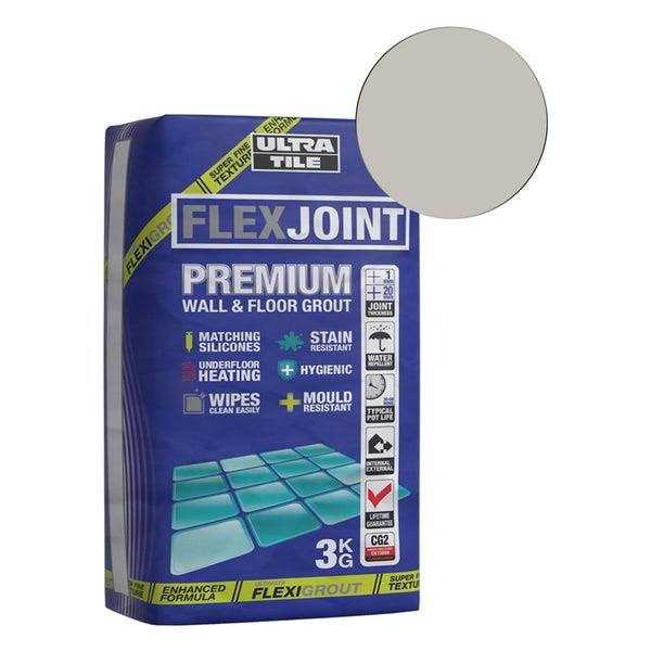 Ultra Tile FlexJoint Premium wall and floor grout titanium 3kg