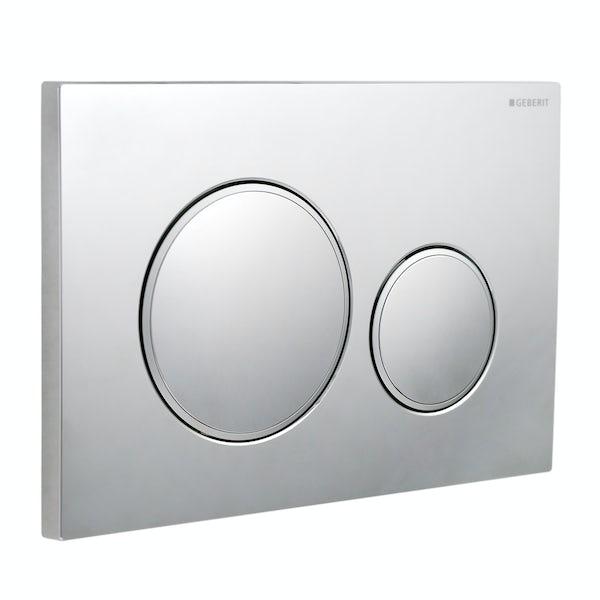 Geberit Sigma20 dual flush plate gloss and matt chrome