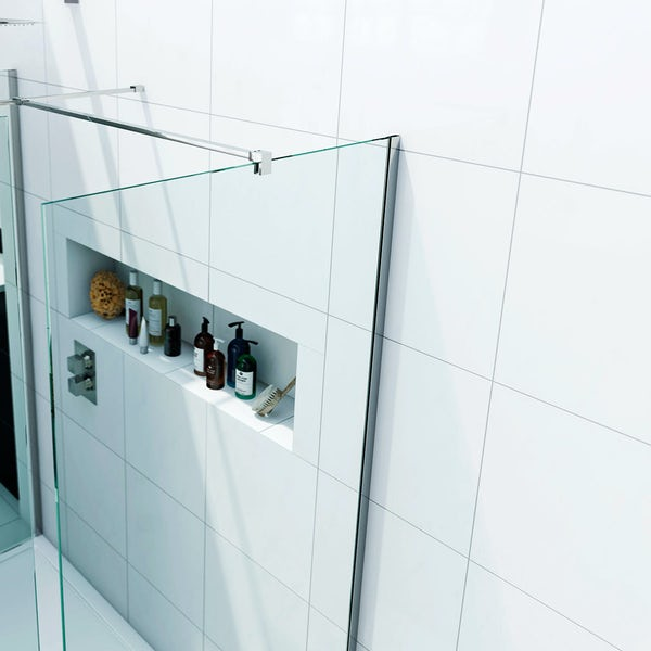 8mm Walk in Shower Enclosure Pack with Tray 1400 x 900