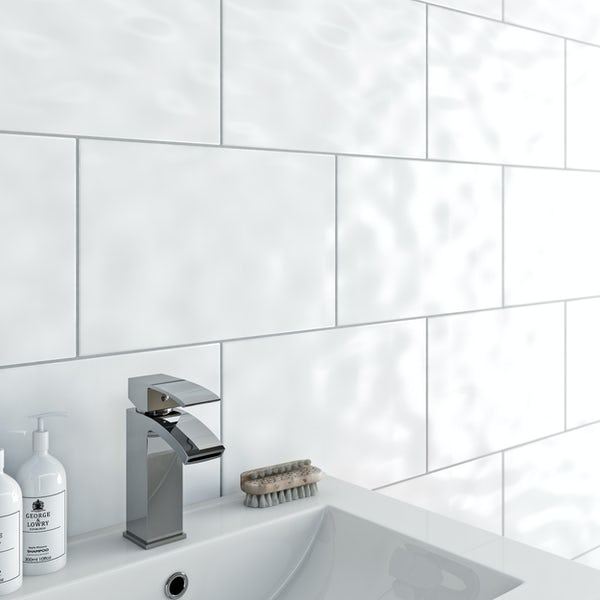 Clarity Bumpy White Gloss Tile 248mm X 398mm