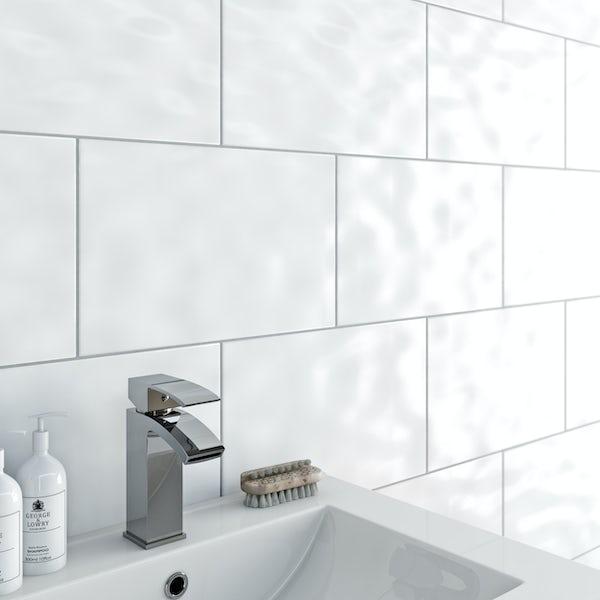 Clarity Bumpy White Gloss Tile 248mm x 398mm ...