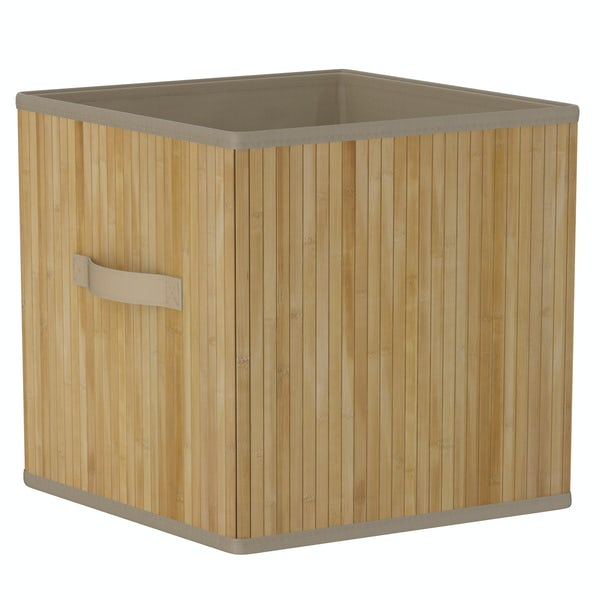 Natural bamboo storage basket