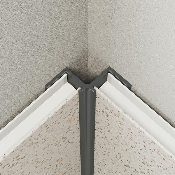 Multipanel Economy type V grey internal corner profile