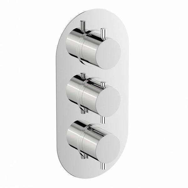 Mode Harrison oval triple thermostatic shower valve