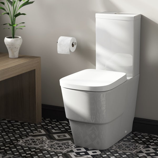 Mode Foster close coupled toilet with soft close seat with pan connector