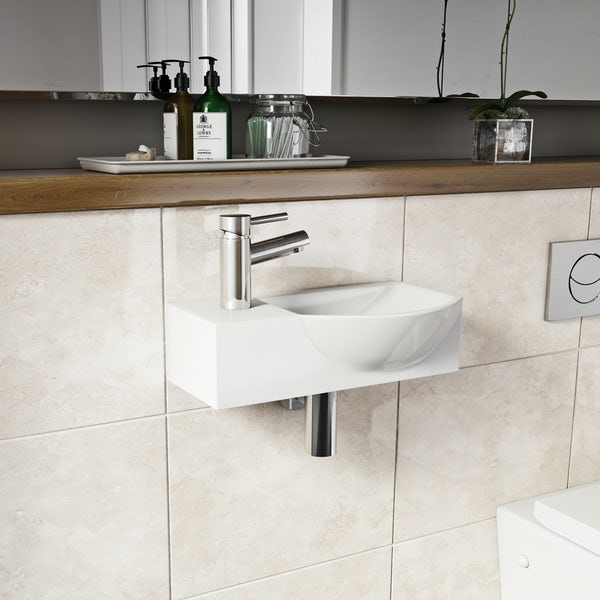 Orchard Lugano 1 tap hole basin 410mm with tap
