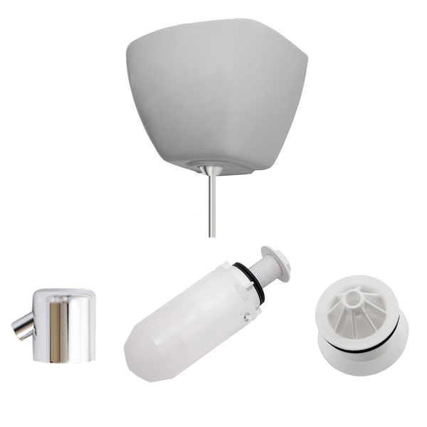 Kirke Curve top in exposed urinal accessories pack for 1  bowl