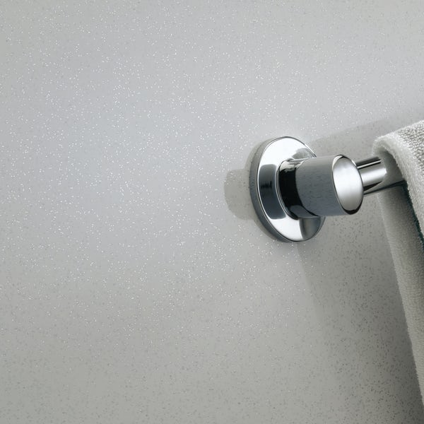 Showerwall Bianco Stardust waterproof shower wall panel