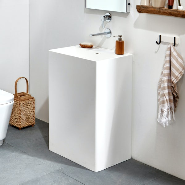 Belle de Louvain Carpi solid surface stone resin freestanding basin 600mm