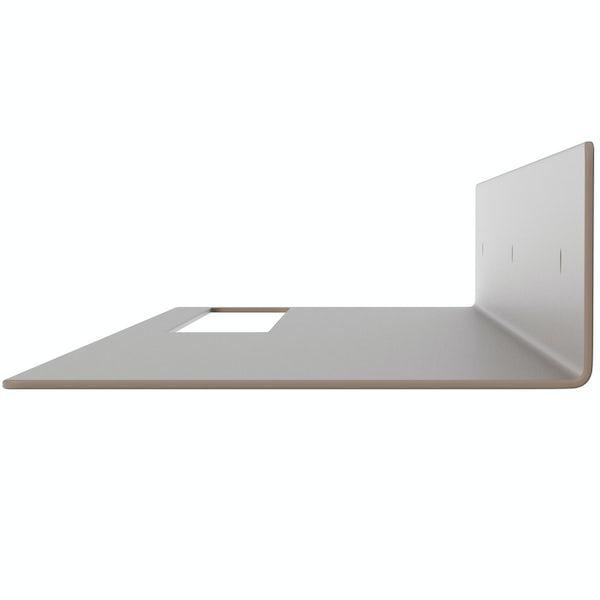 Accents Mono taupe 800mm bathroom shelf