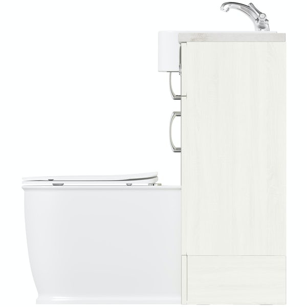 The Bath Co. Newbury White Small Fitted Furniture