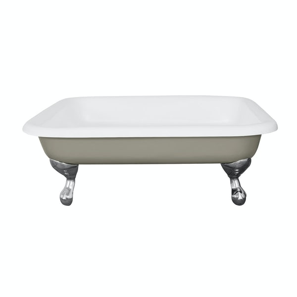 The Bath Co. Lewes misted green cast iron shower tray
