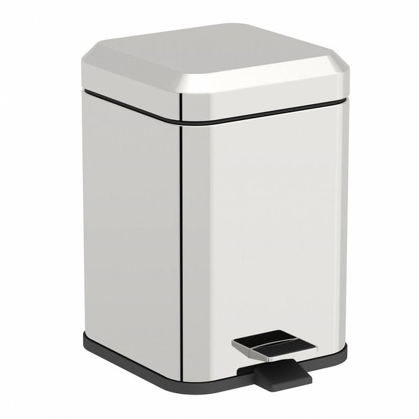 Options Square Stainless Steel 5l Bin