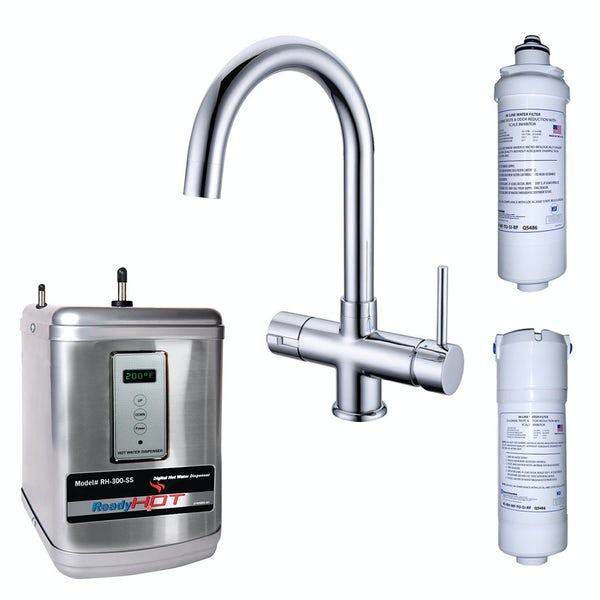 Ready Hot Three way boiling water tap with digital boiler