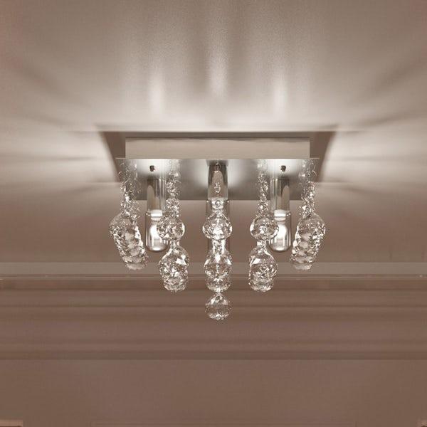 Forum ora square flush bathroom ceiling light for Square bathroom ceiling light