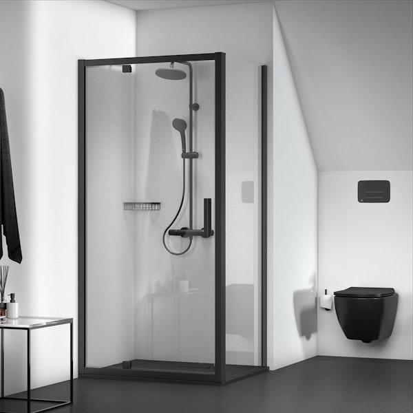Ideal Standard IOM silk black shower basket