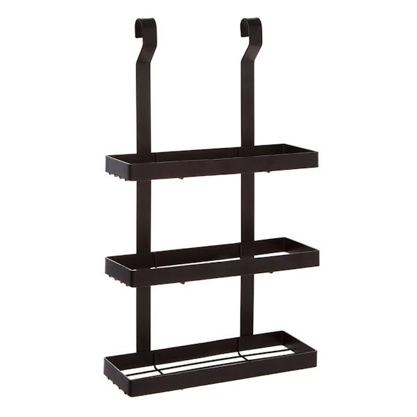 Hanging 3 tier shelf unit in matt black