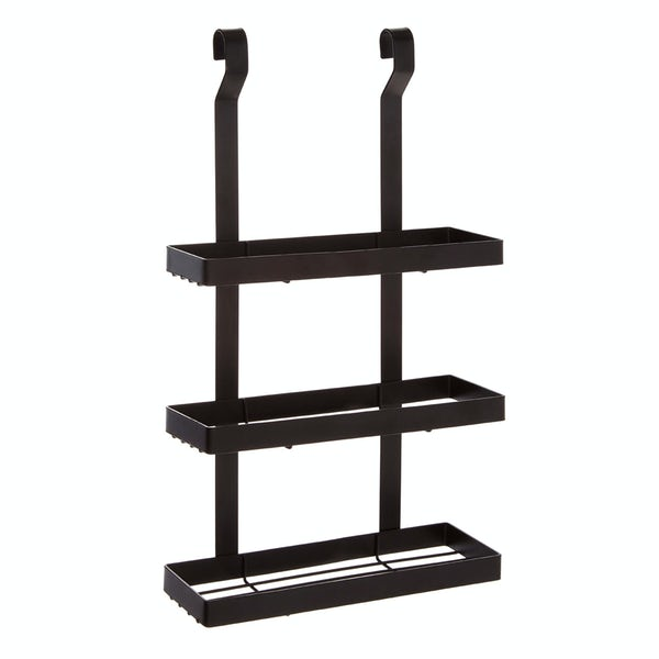 Hanging 3 tier shelf unit in matt black
