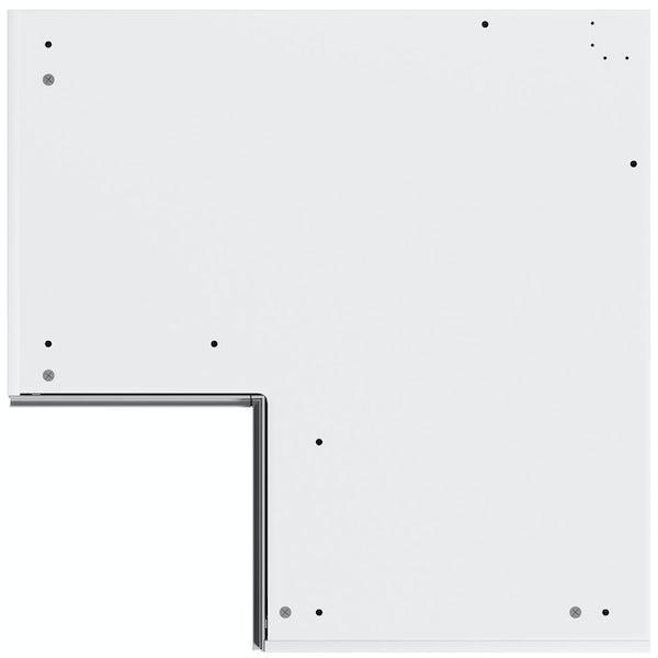 Schon Chicago light grey slab 950mm corner base unit