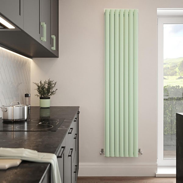 The Tap Factory Vibrance mint vertical panel radiator