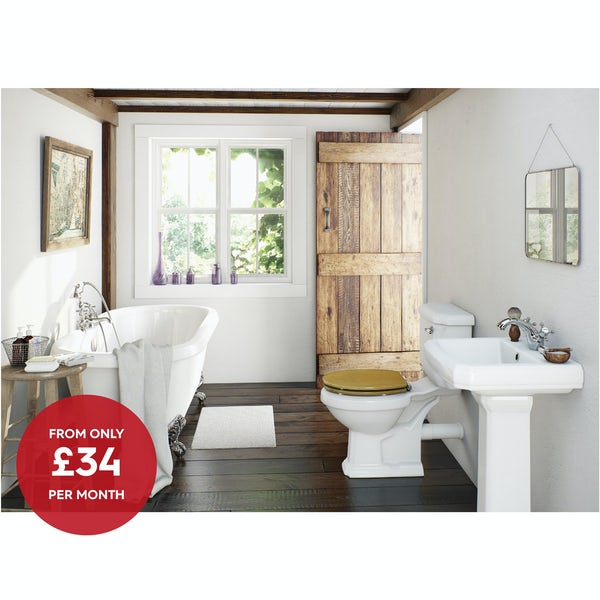 The Bath Co Dulwich Complete Bathroom Suite With Roll Top Bath