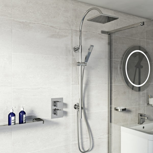 Ellis Thermostatic Valve & Riser Rail Set