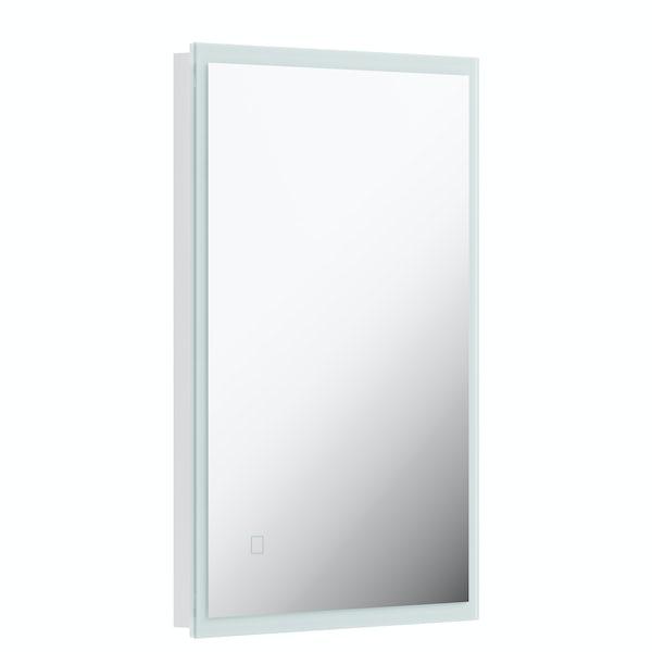 Mode Mayne LED illuminated mirror 500 x 700mm with demister