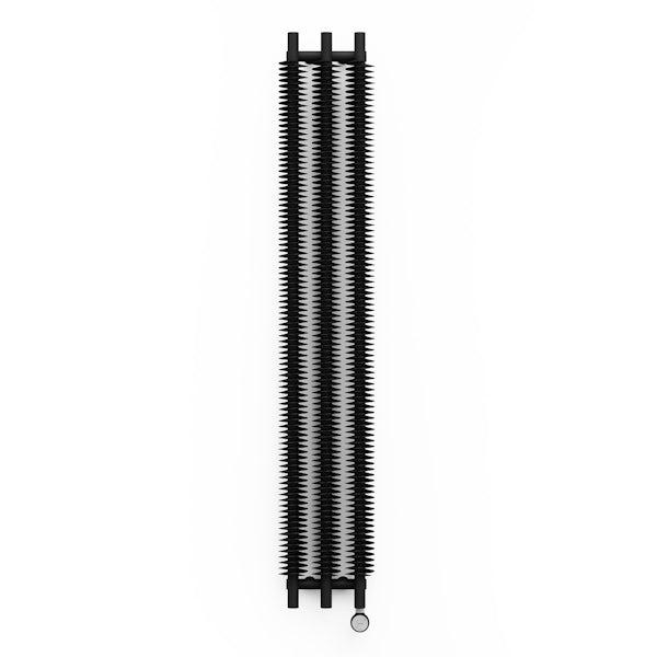 Terma Ribbon VE heban black electric radiator 1800 x 290 with MOA Blue element - black