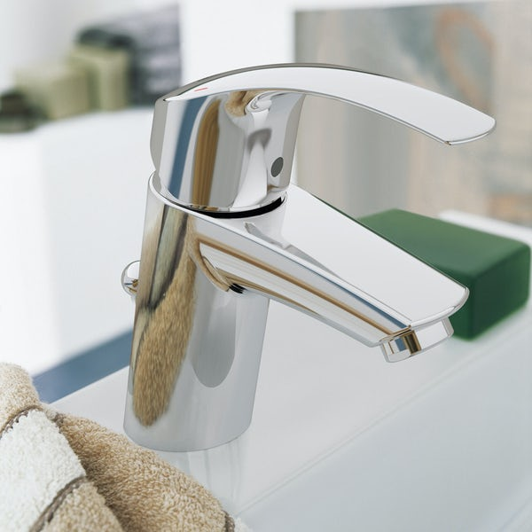 Grohe Eurosmart basin mixer tap with waste