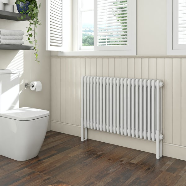 Clarity white 3 column radiator 600 x 1014