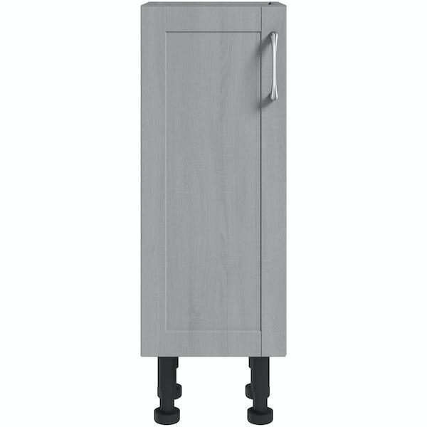 The Bath Co. Newbury dusk grey floor cabinet 300mm