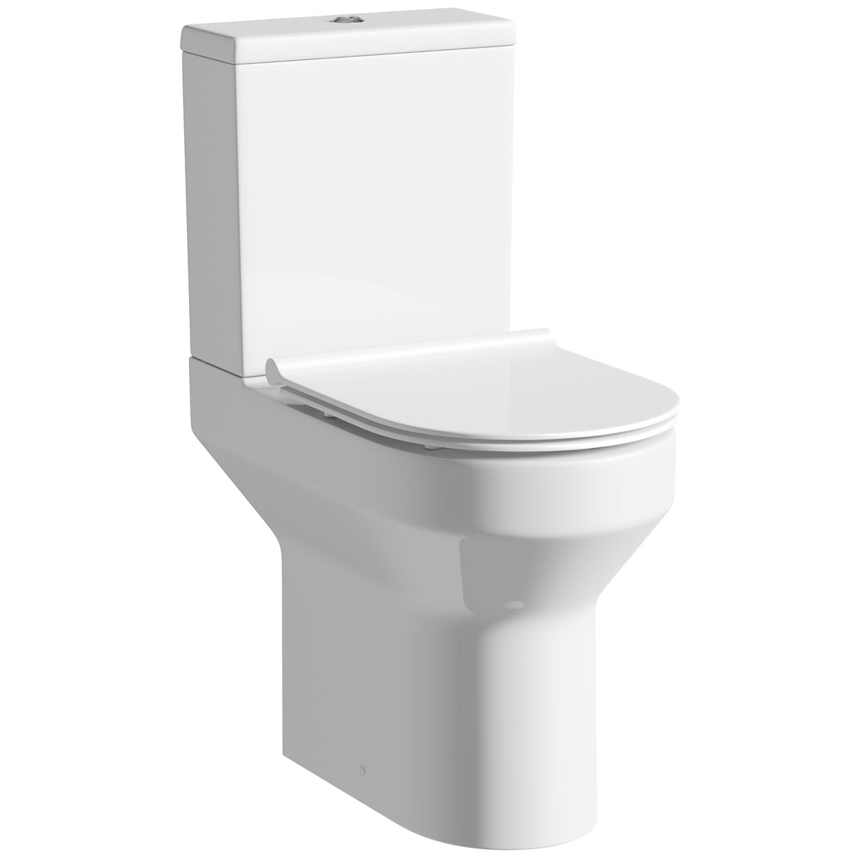 Oakley comfort height close coupled toilet with soft close slim seat