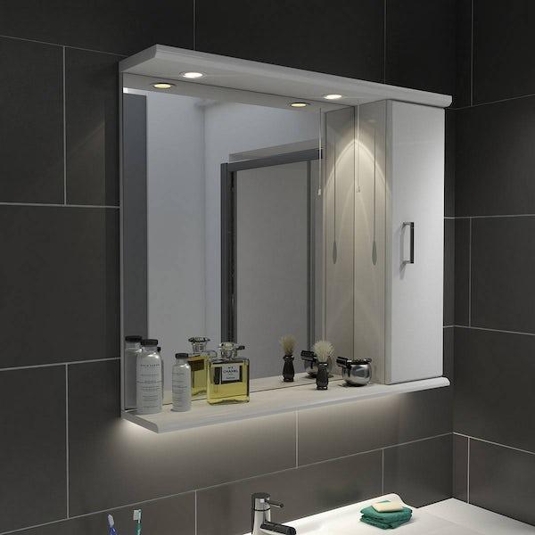 Sienna White 85 Mirror with lights