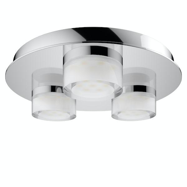 Forum Amalfi 3 light flush bathroom ceiling light
