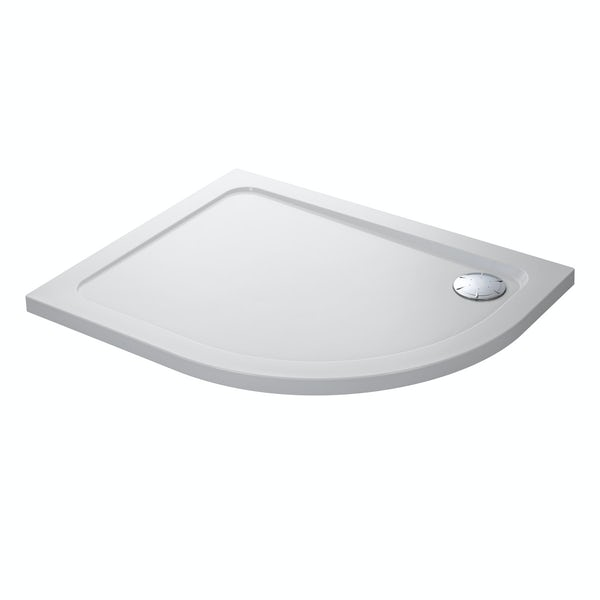 Mira Flight low level left handed quadrant shower tray 1200 x 900