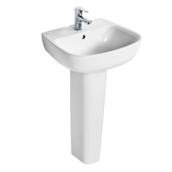Ideal Standard Studio Echo 1 tap hole full pedestal basin 500mm