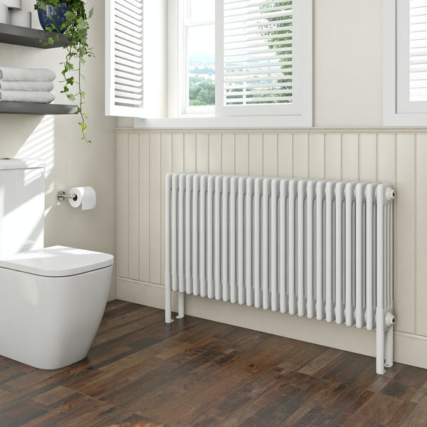 Clarity white 4 column radiator 600 x 1194