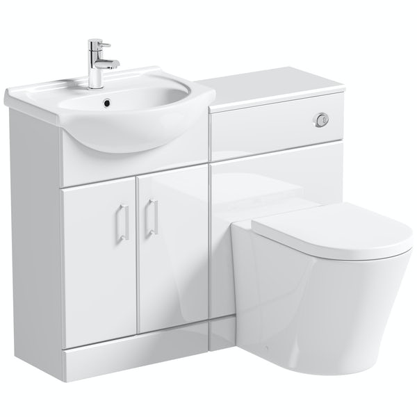 Orchard Eden white 1060mm combination with contemporary toilet and seat